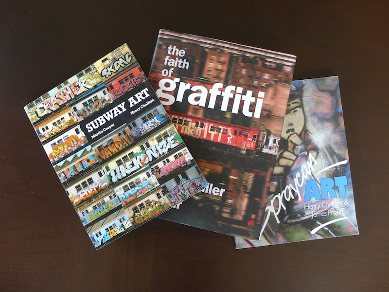 Subway Art, The Faith of Graffiti and Spraycan Art, three of the earliest and best-known books on graffiti. Photo by Mike Rushmore.
