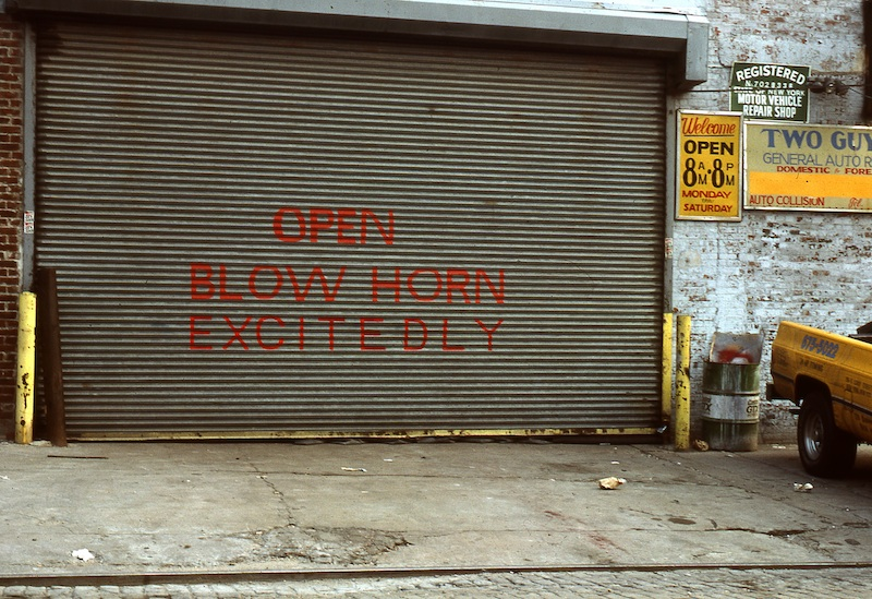 Blown horn excitedly - Photo by Dan Witz