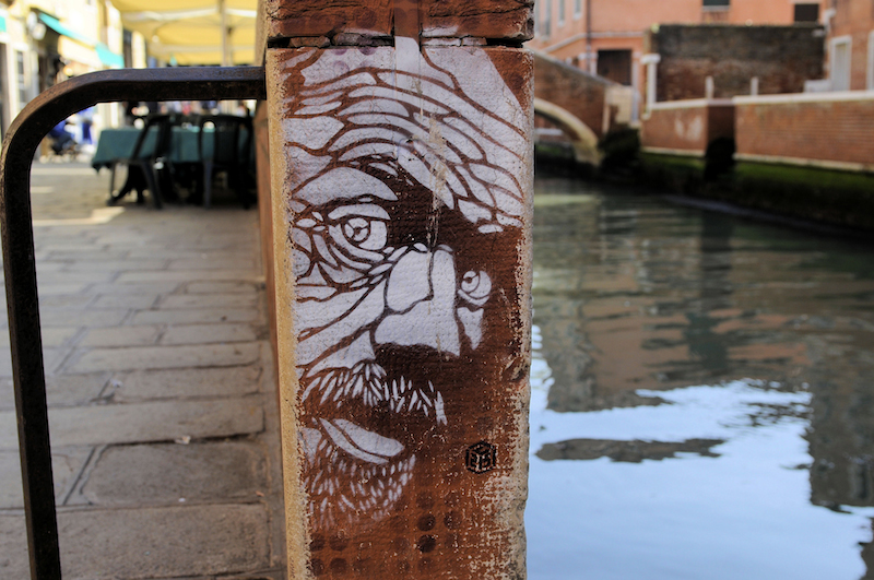 Work by C215 in Venice, Italy. Photo by Son of Groucho.