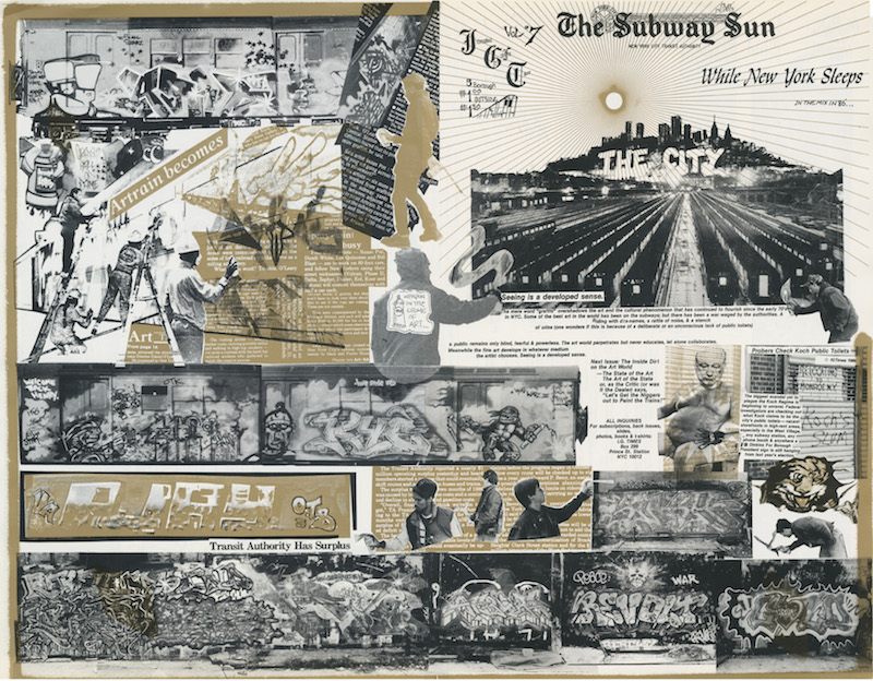 "IGTimes volume 7, 1986 - broadsheet ( 17""x22"") with a quarter fold - designed by founder/ publisher David Schmidlapp, a photographer / filmmaker who did photo collages and photo layouts in the mid-1970's. Courtesy of David Schmidlapp."