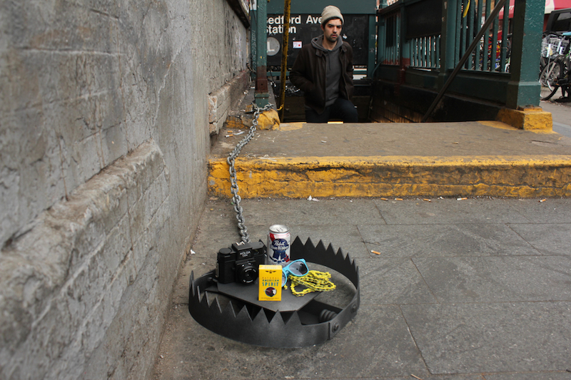 A hipster trap by Jeff Greenspan and Hunter Fine. Photo by Hunter Fine.