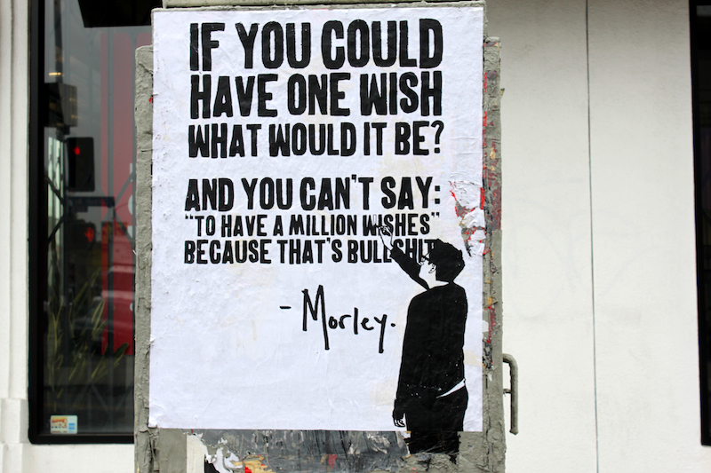 A wheatpaste by Morley. Photo by Stefan Kloo.