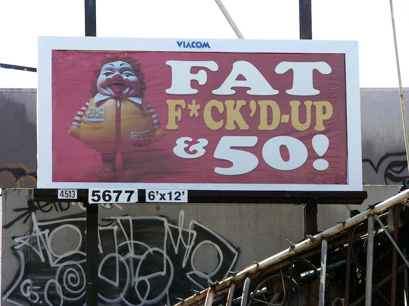 A 2005 ad takeover by Ron English in San Francisco. Photo by Lisa Müllerauh.