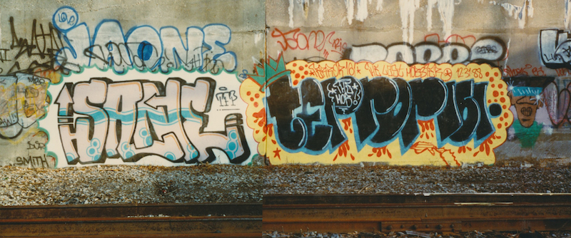 Sane and Terror161 in New York City in 1988. Photos by Sane, courtesy of Jay