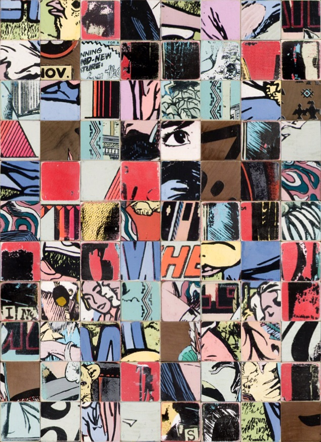 Jumbled Faile puzzle box, made in the Faile Puzzle Box app. Image by RJ Rushmore.