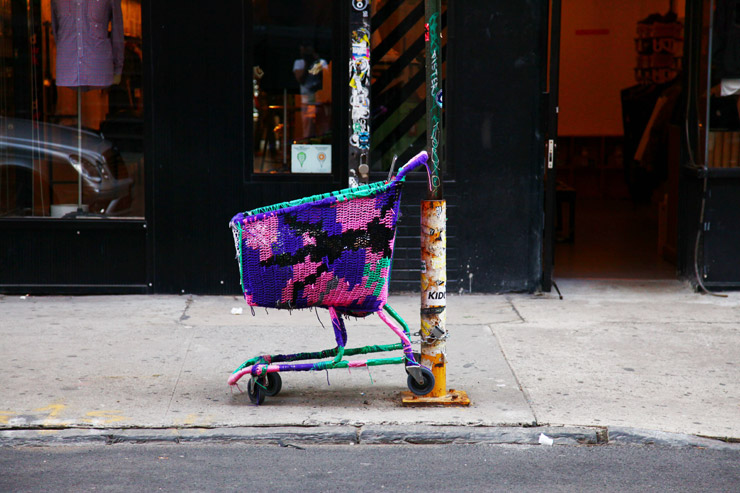 Olek in New York City. Photo by Jaime Rojo.