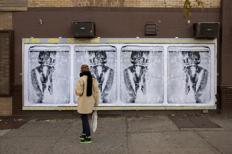 "An ad takeover by Jordan Seiler for his ""Iselin"" series in 2013. Photo by Jordan Seiler."