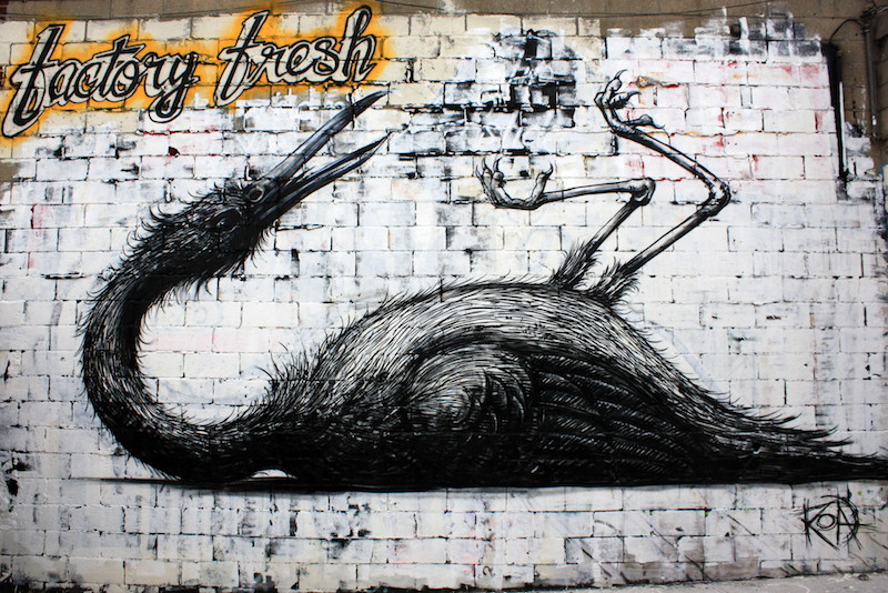 Roa at Factory Fresh in Bushwick. Photo by Luna Park.